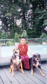 Ani, Dr. Choedraks personal assistant on his 1999 visit to Cleveland, and two friends